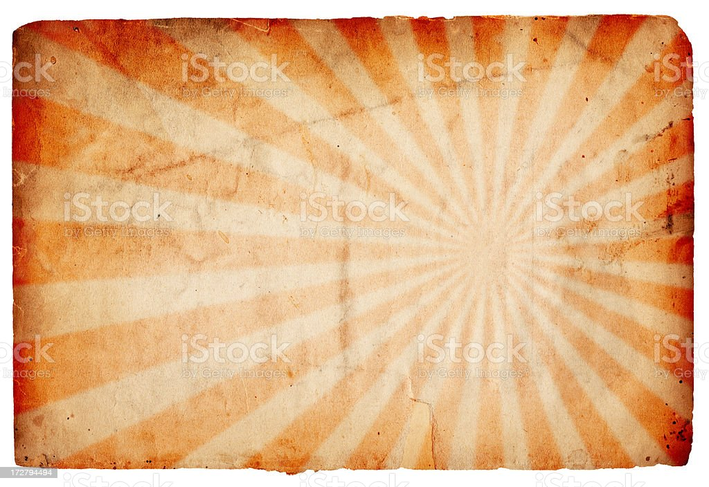 Vintage Sunburst Paper XXXL royalty-free stock photo