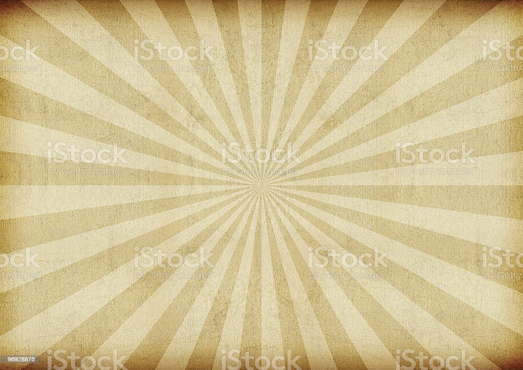 Vintage sunburst tan background stock photo