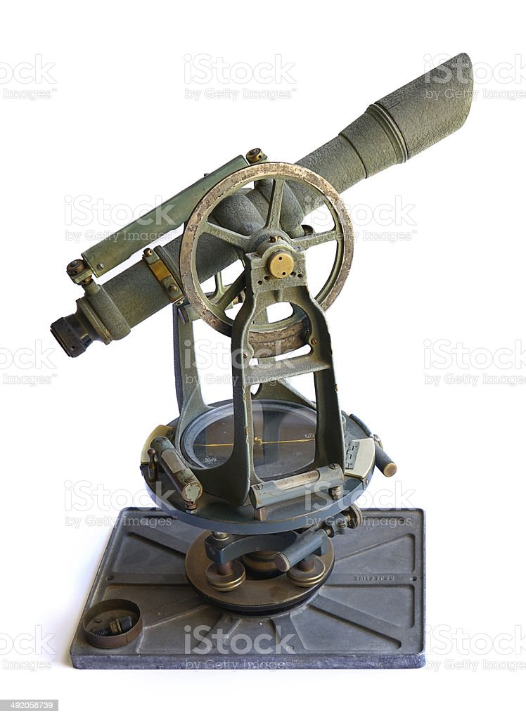 Vintage Surveyor's Theodolite royalty-free stock photo