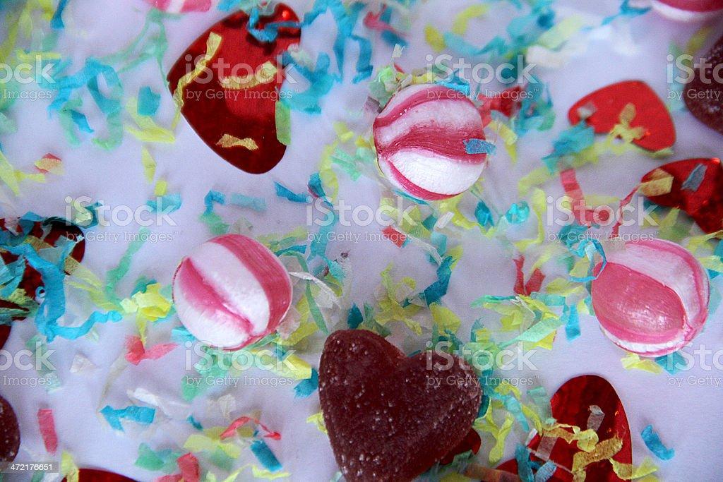 Vintage dolce zucchero caramelle e Coriandoli e stelle filanti foto stock royalty-free