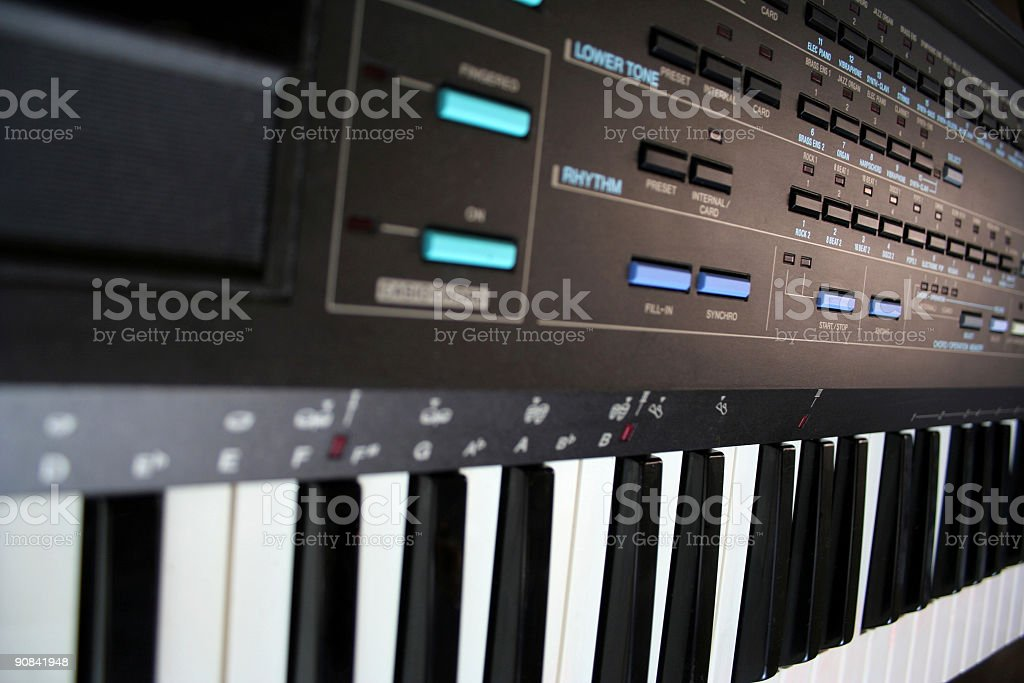 vintage synth stock photo