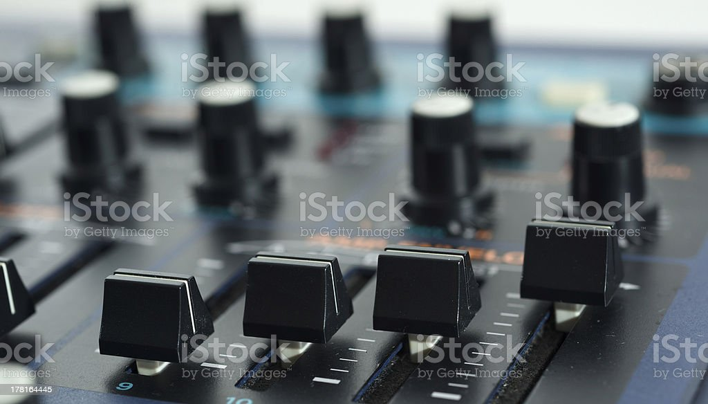 Vintage Synth with Sliders royalty-free stock photo
