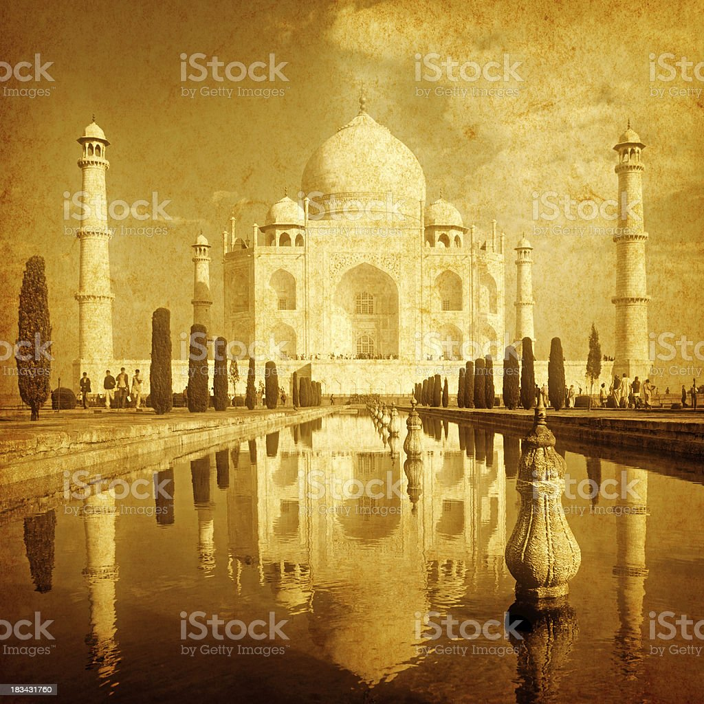 Vintage Taj Mahal royalty-free stock photo