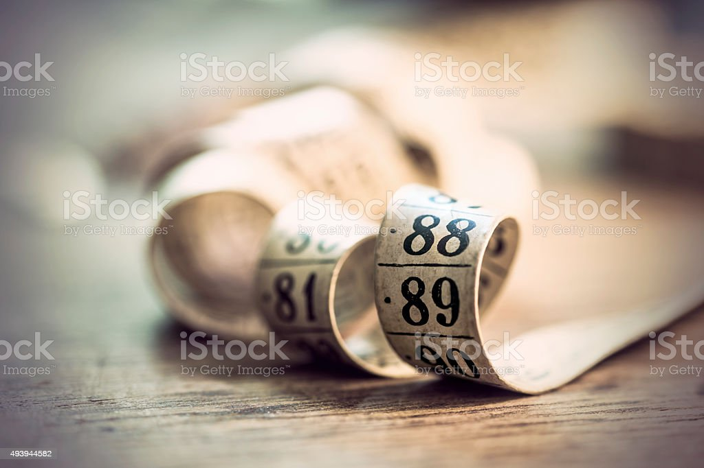 vintage tape measure stock photo