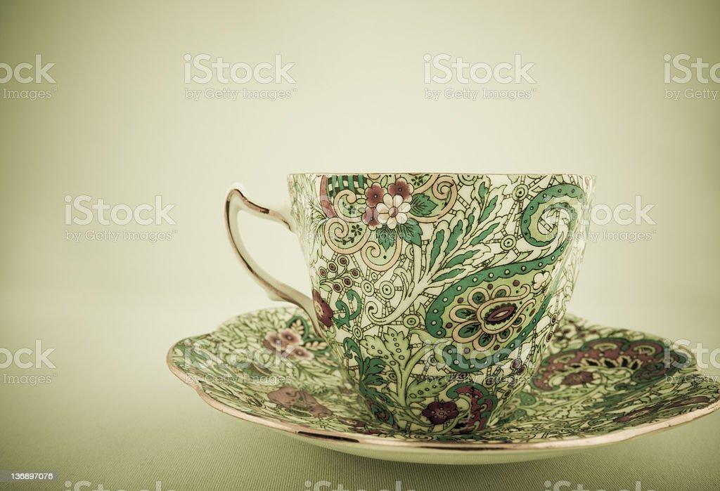 Vintage tea cup royalty-free stock photo