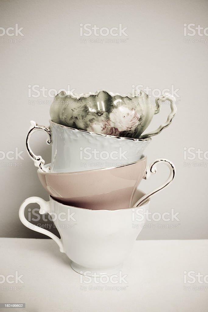 Vintage Teacups royalty-free stock photo