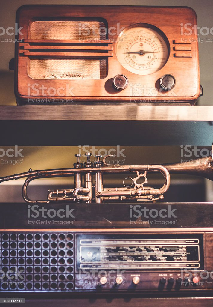 Vintage technology stock photo
