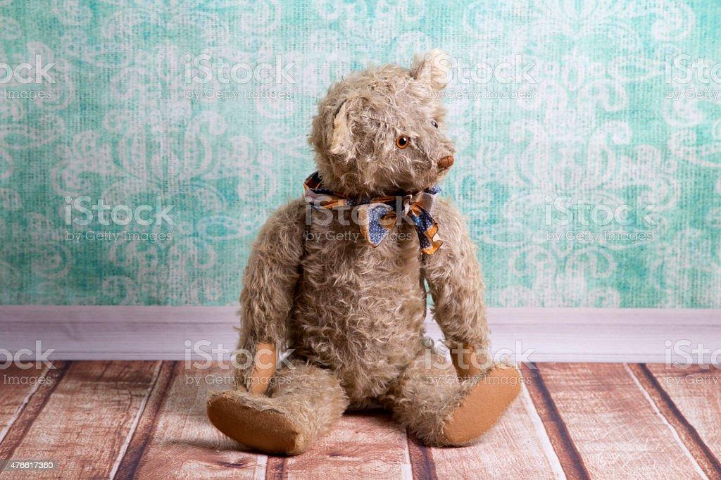 Vintage Teddy bear stock photo