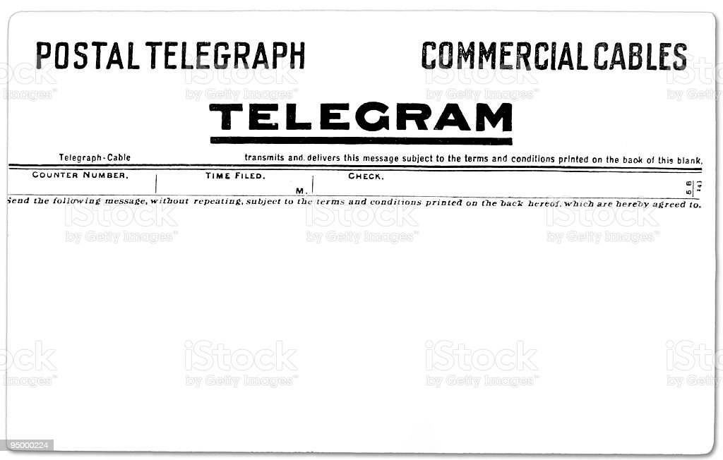 Vintage Telegram royalty-free stock photo