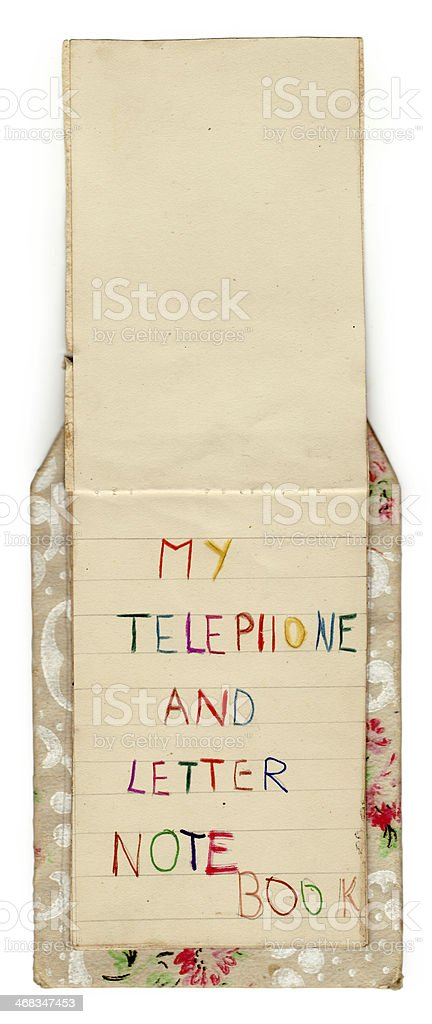Vintage telefono e Notebook (con Clipping Path) foto stock royalty-free