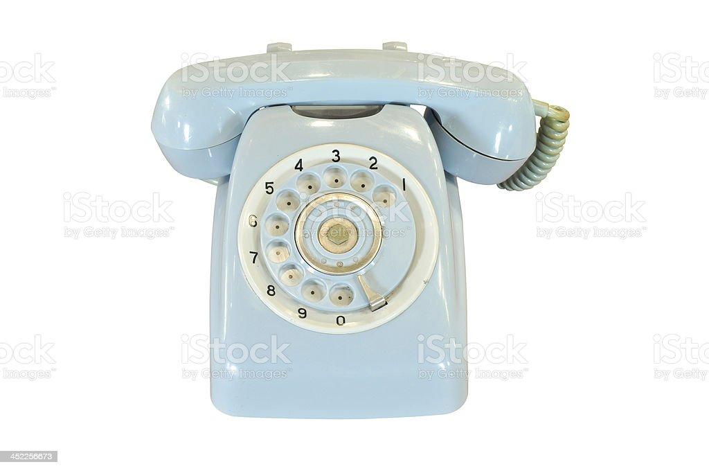 vintage telephone isolated royalty-free stock photo
