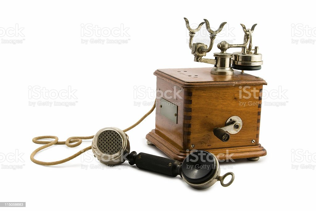 Vintage Telephone off the Hook royalty-free stock photo