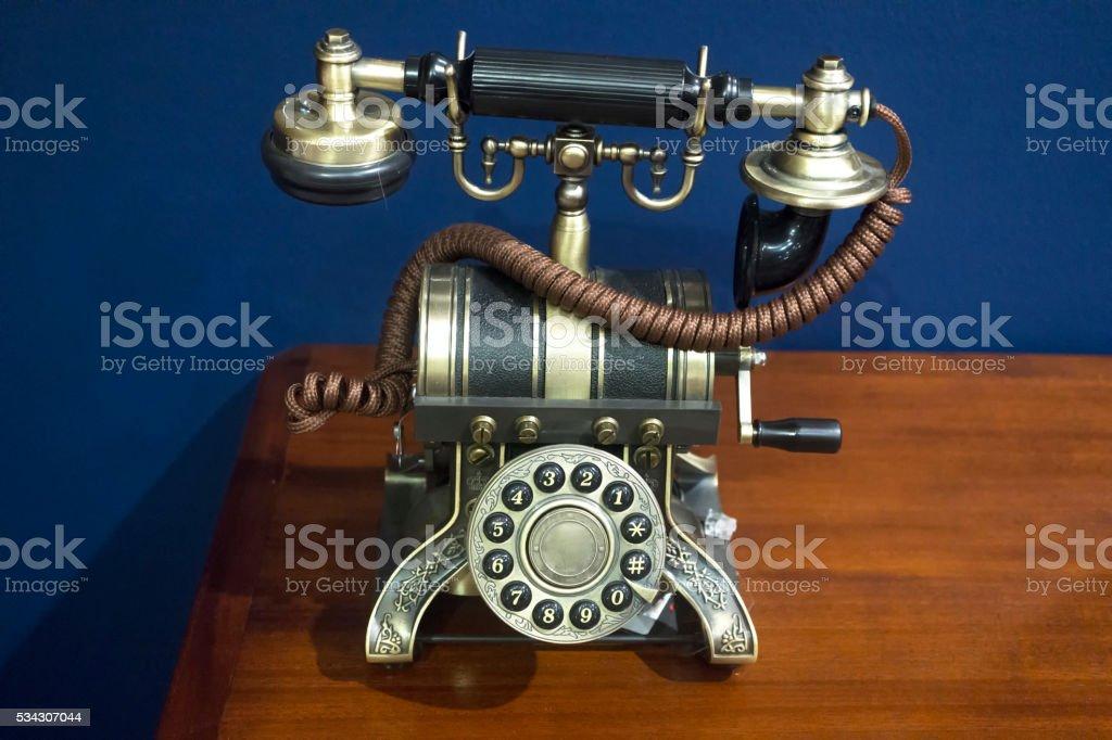 Vintage telephone stock photo