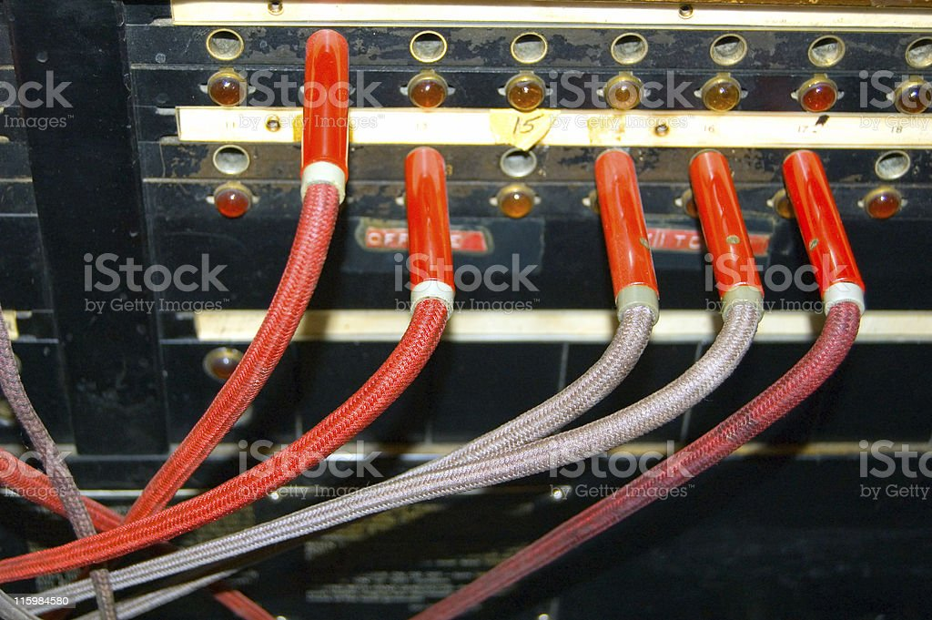 Vintage Telephone Switchboard stock photo