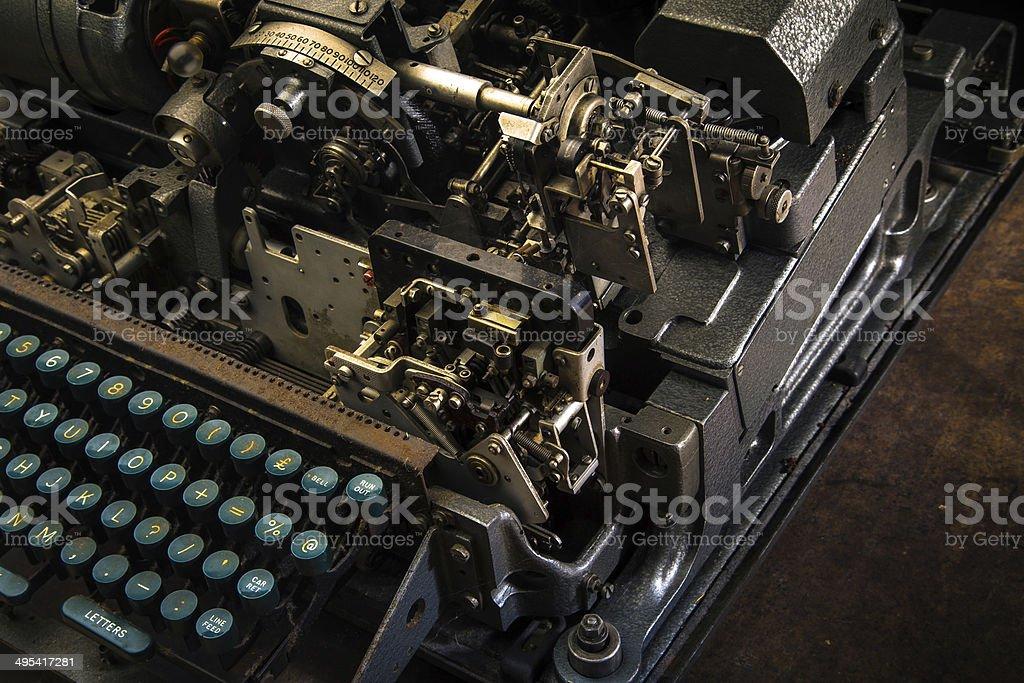 Vintage Teletype Computer Terminal stock photo