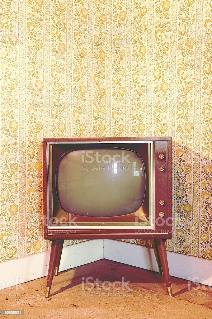 Vintage Television stock photo