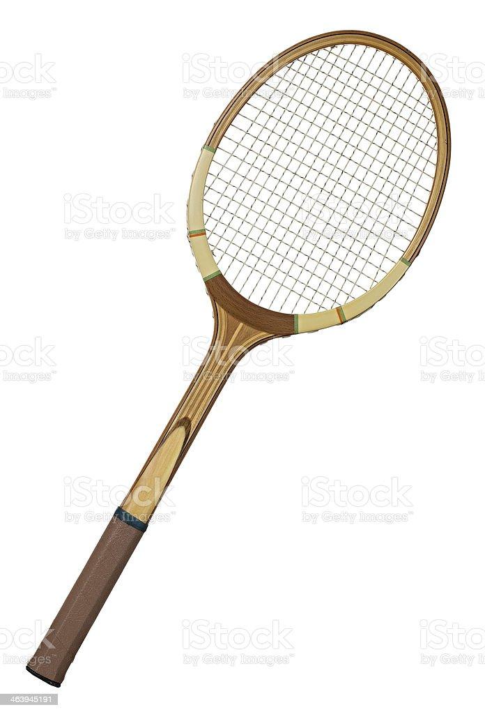Vintage tennis racket stock photo