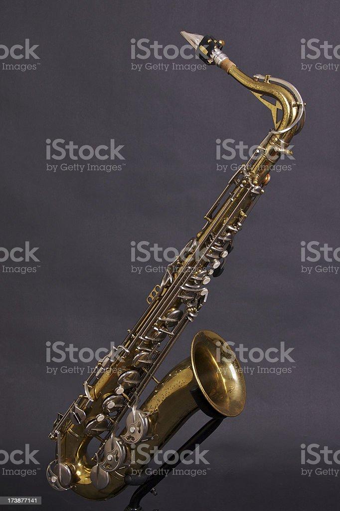 Vintage Tenor Saxophone stock photo