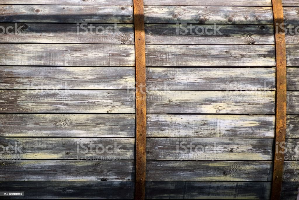 vintage texture boards of an old wooden barrel stock photo