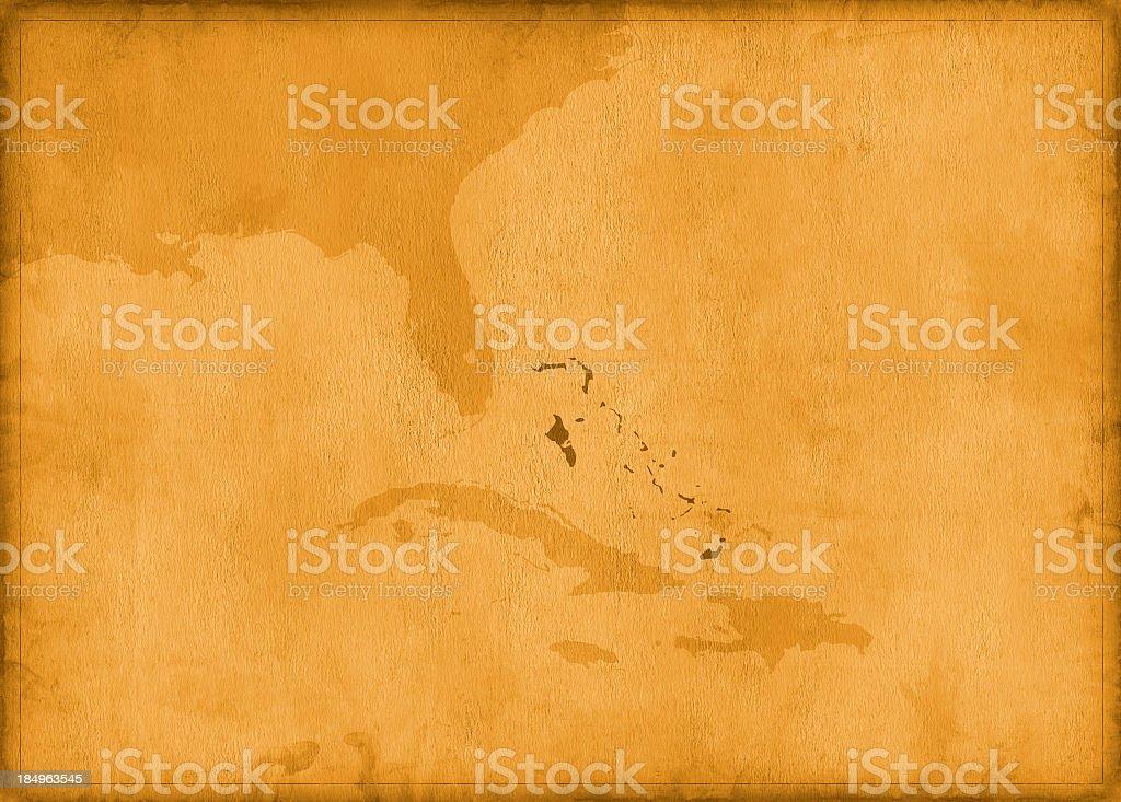 Vintage the bahamas map royalty-free stock photo
