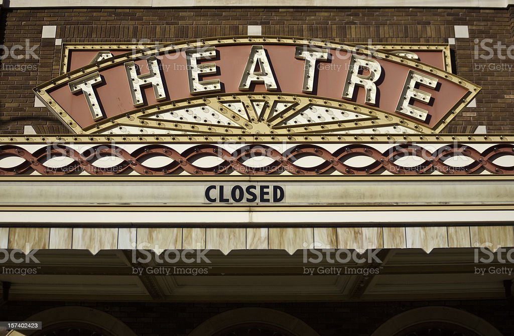 Vintage Theater Marquee stock photo