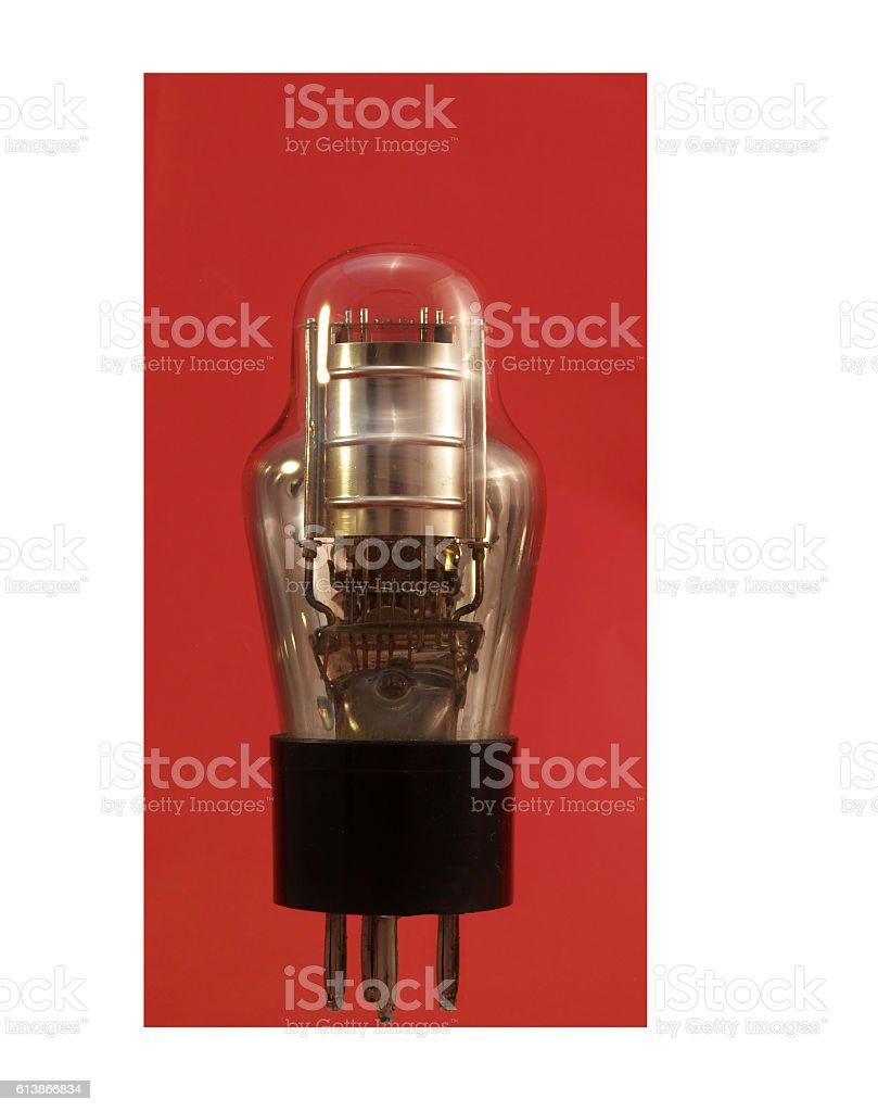 Vintage thermionic valve stock photo