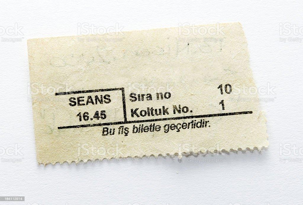 Vintage Ticket stock photo