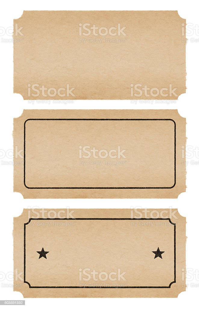 Vintage Tickets (with path) stock photo