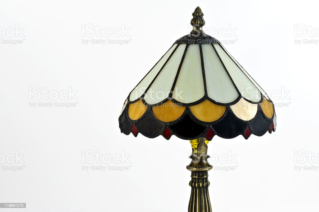 Vintage Tiffany Lamp stock photo