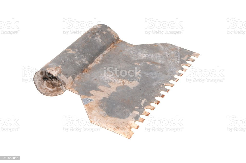 Vintage Tile Adhesive Spreader stock photo