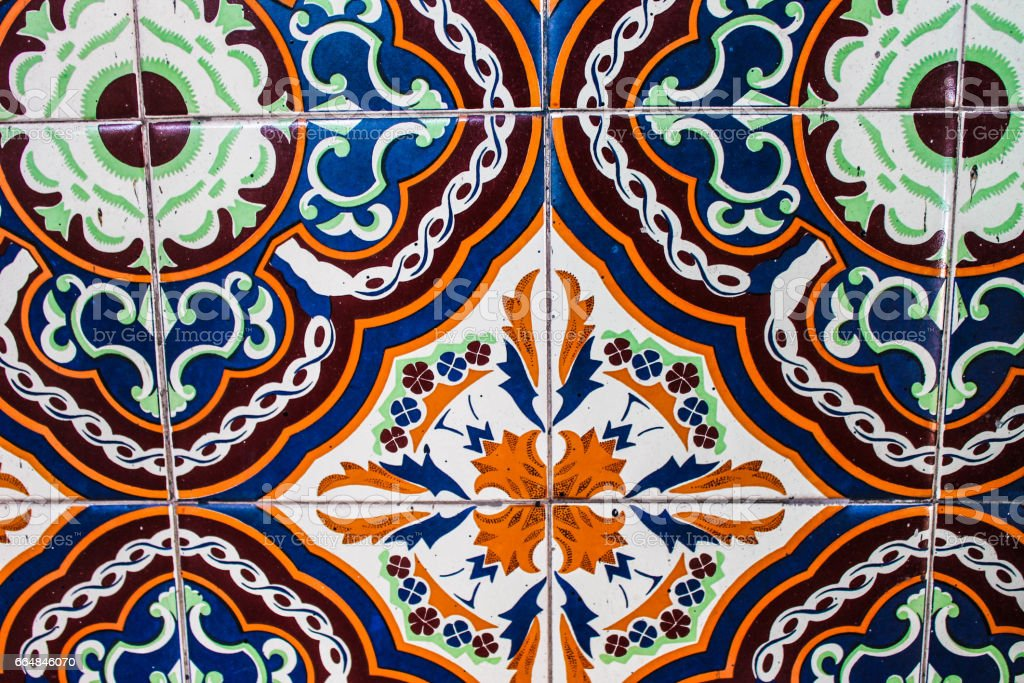 Vintage Tile Background stock photo