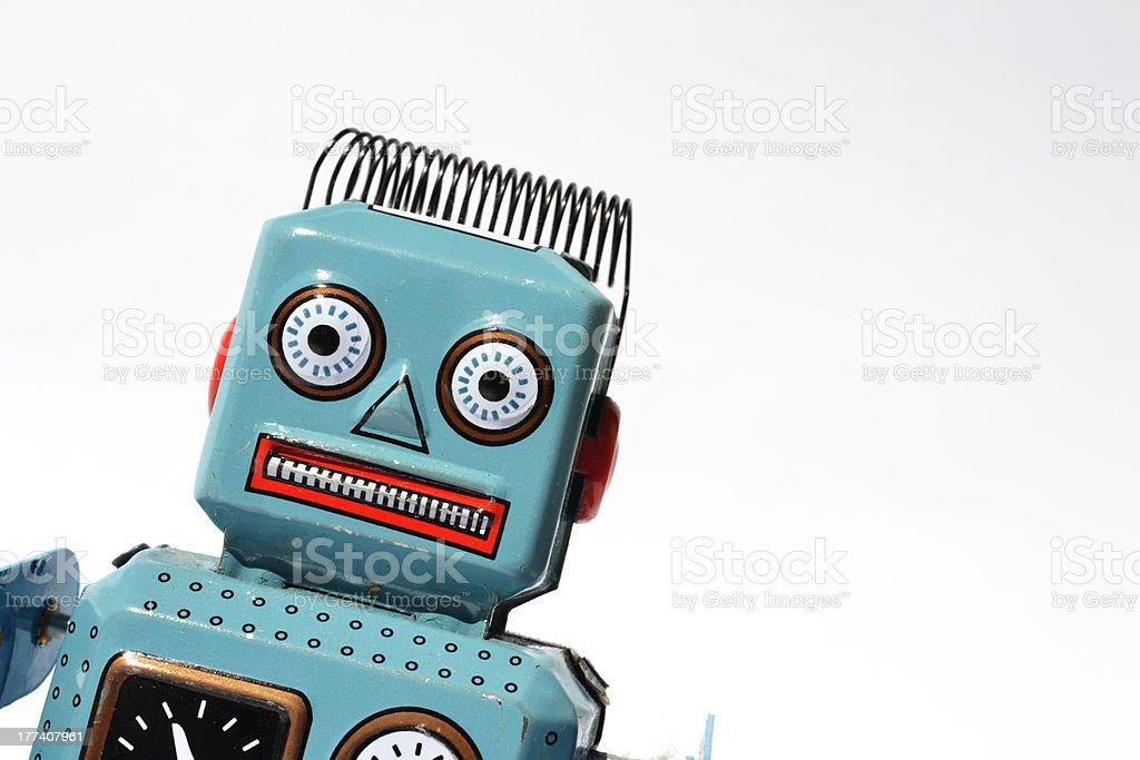 Vintage tin toy robot stock photo