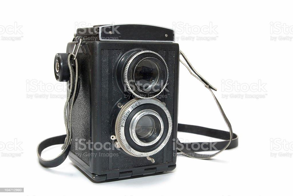 Vintage TLR horisontal framed stock photo