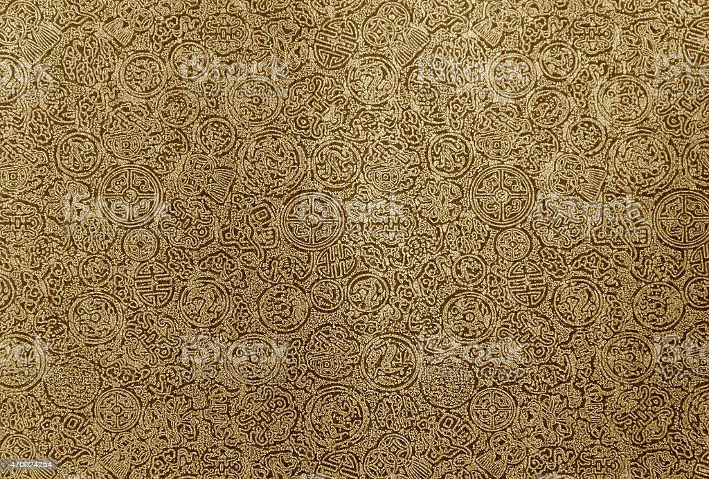 Vintage tone Chinese pattern background royalty-free stock photo