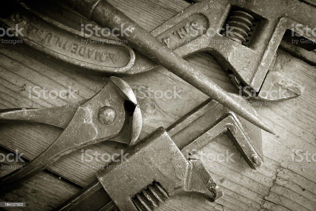 Vintage Tools royalty-free stock photo