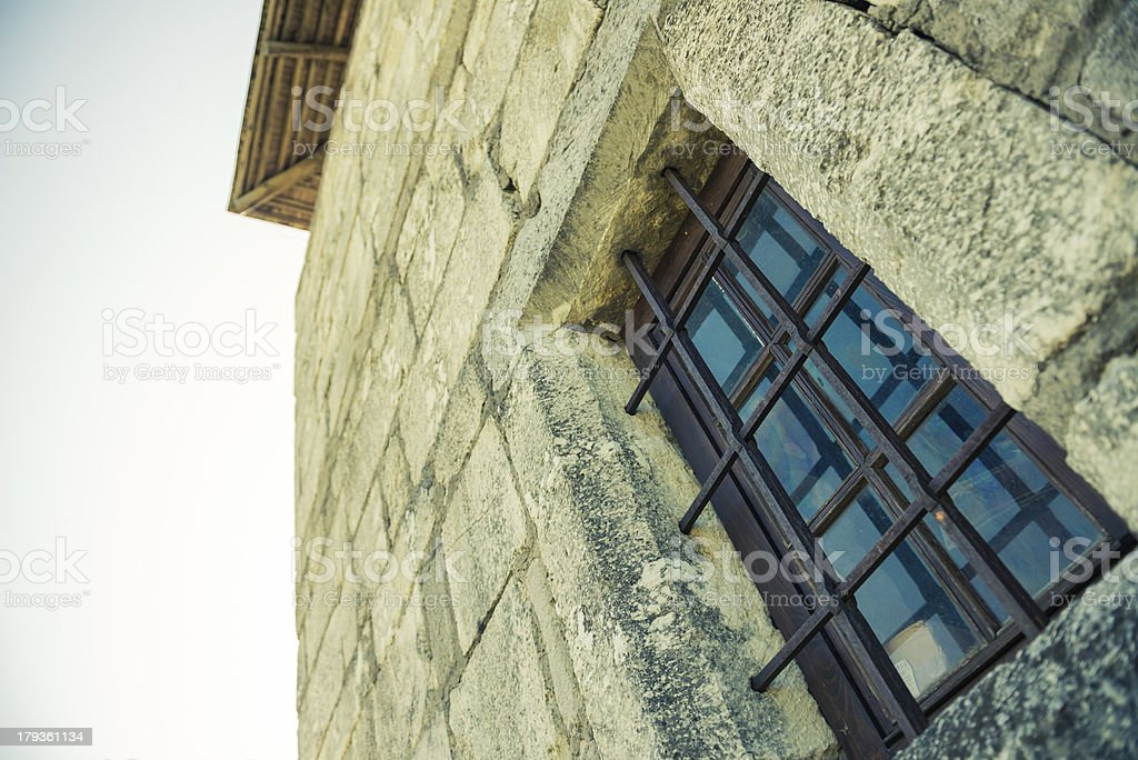 vintage tower window royalty-free stock photo