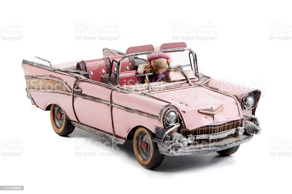 Vintage Toy Car and stock photo