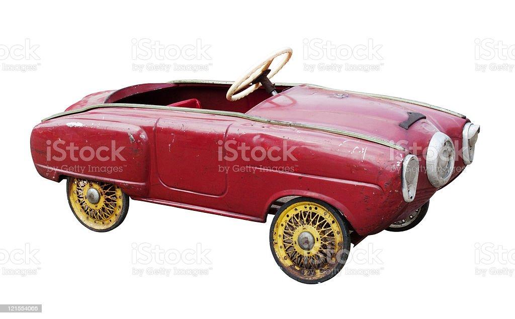 Vintage toy car royalty-free stock photo