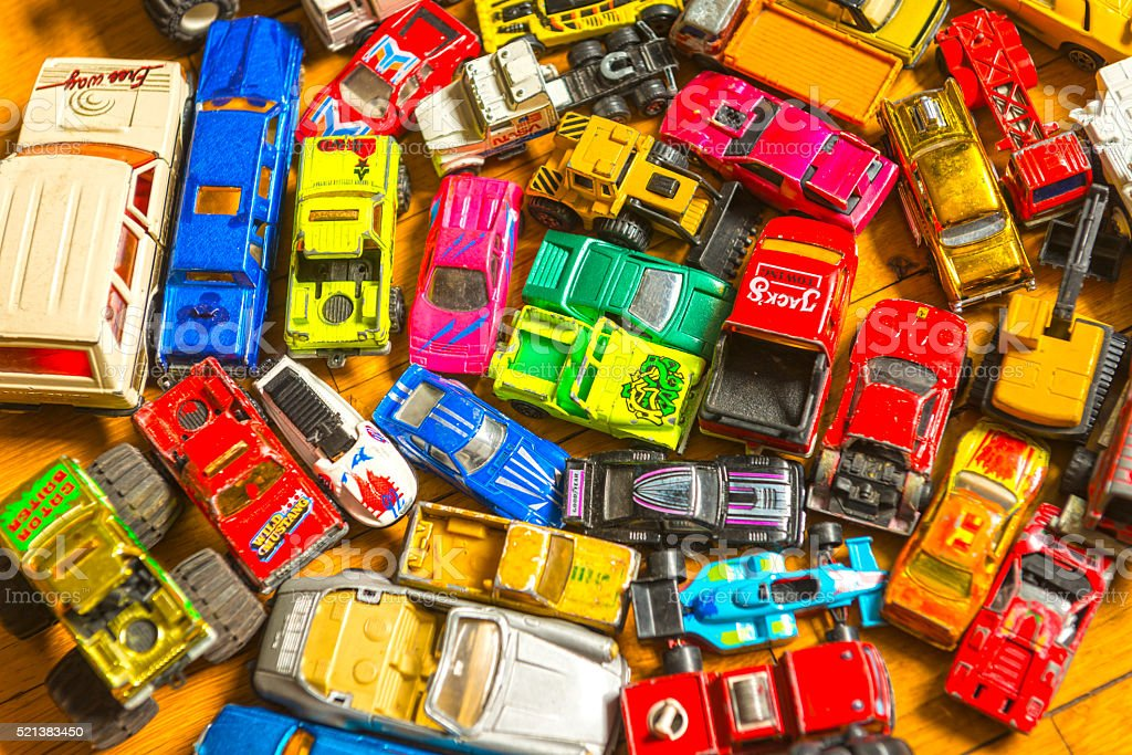 Vintage toy cars stock photo