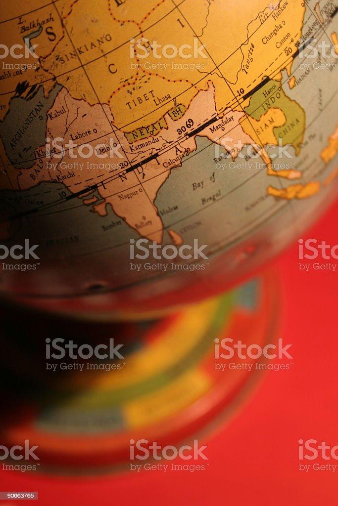 vintage toy globe royalty-free stock photo