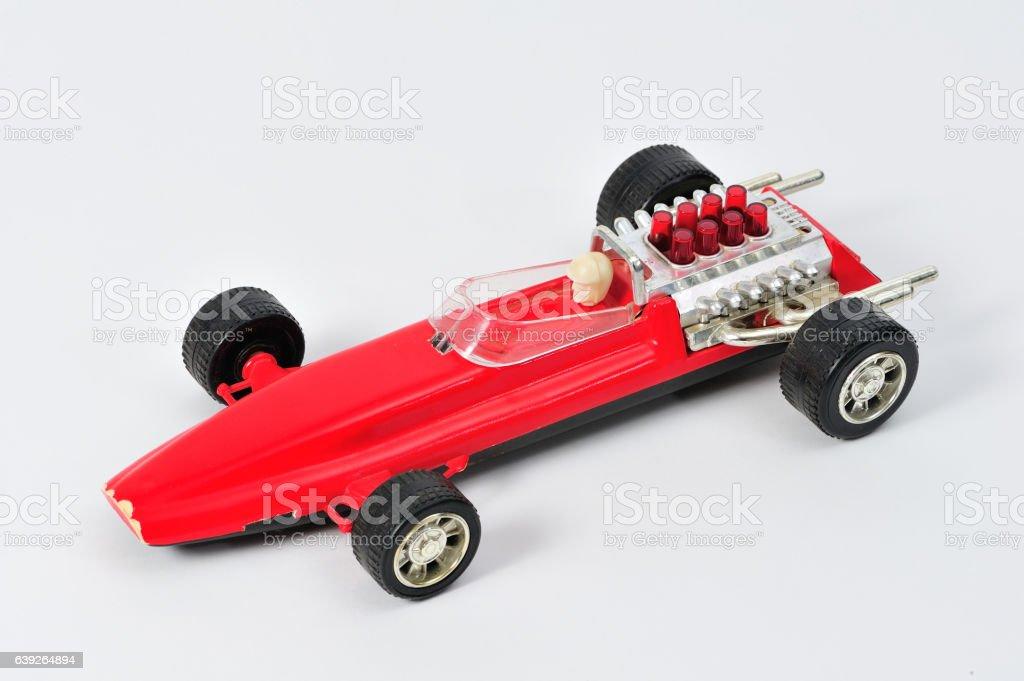 Vintage Toy Race Car stock photo