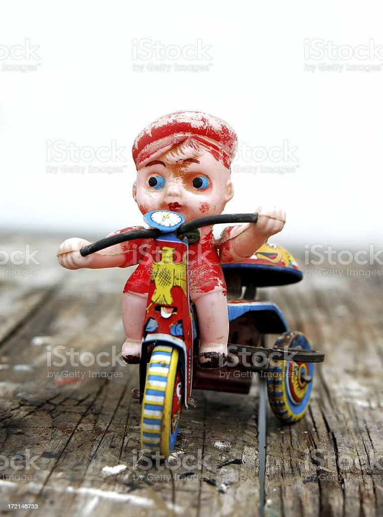 vintage toy rider royalty-free stock photo