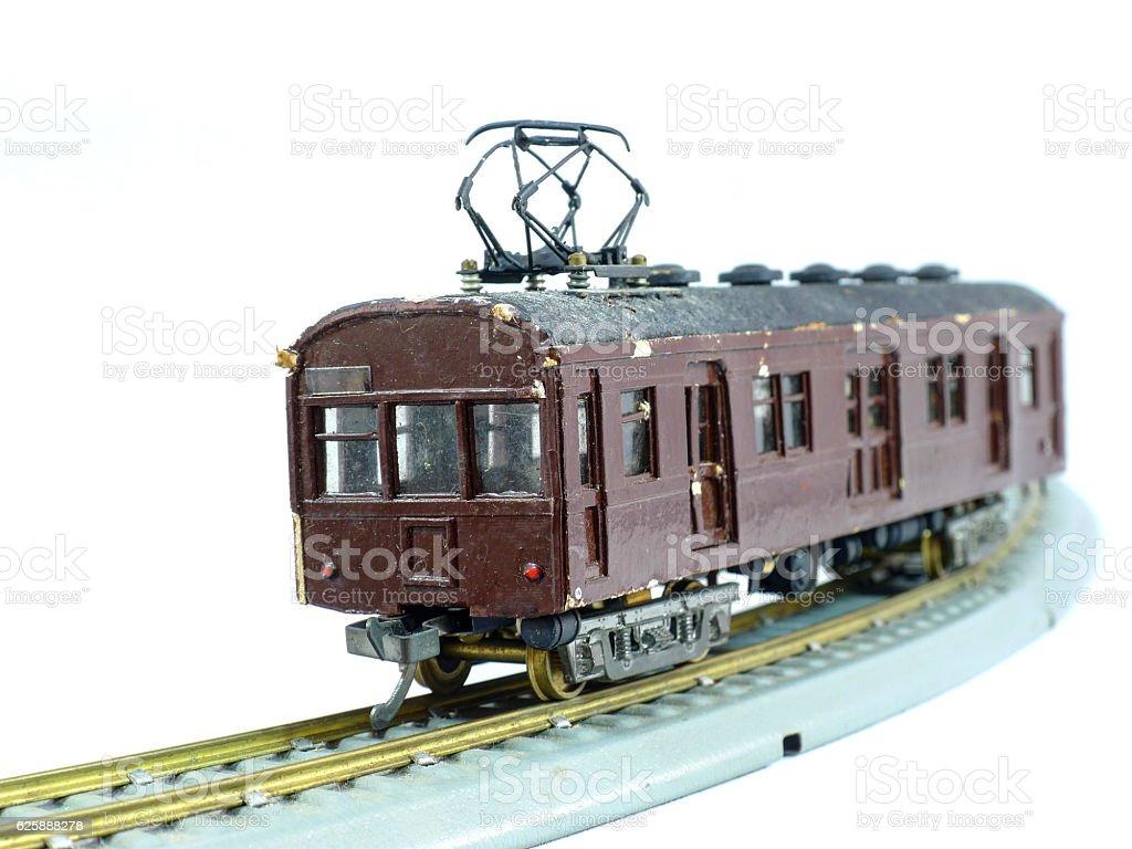 Vintage toy train stock photo