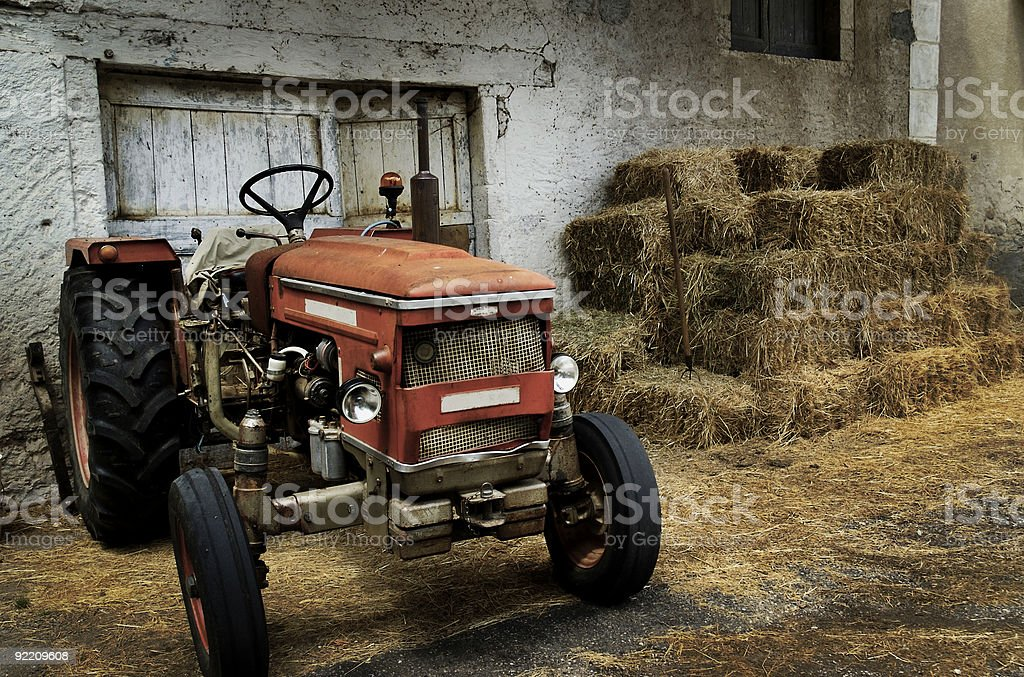 Vintage Tractor royalty-free stock photo