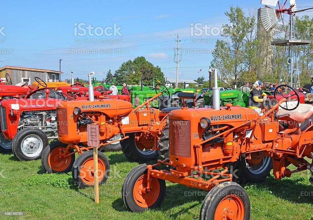 vintage tractors stock photo