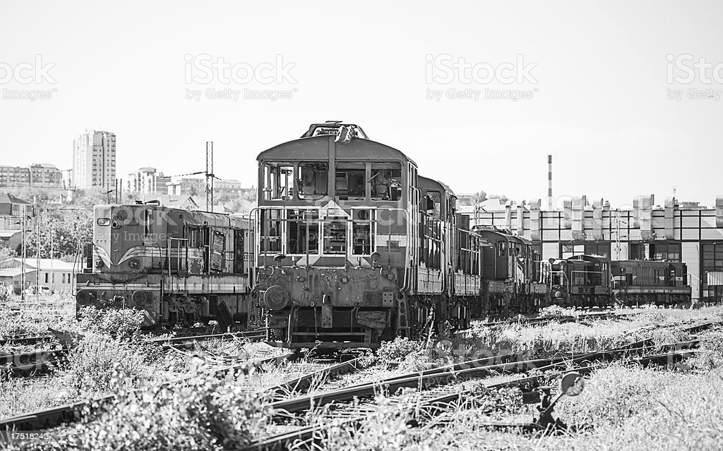 Vintage Train royalty-free stock photo