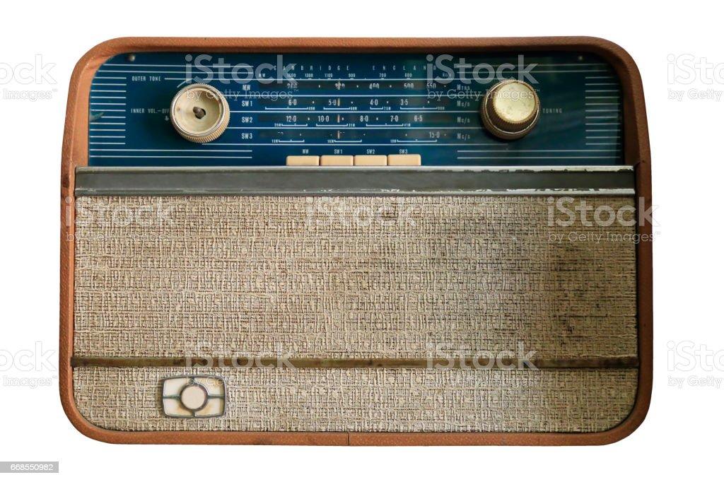 Vintage Transistor Radio stock photo