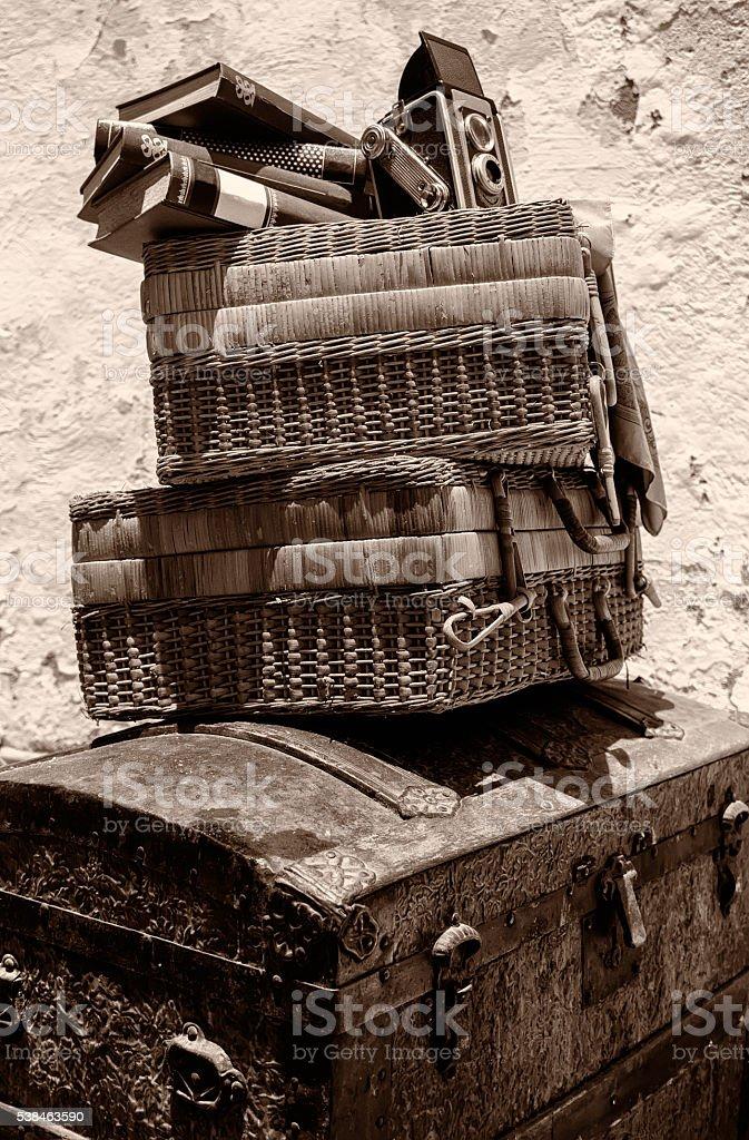 Vintage Travel Cases stock photo