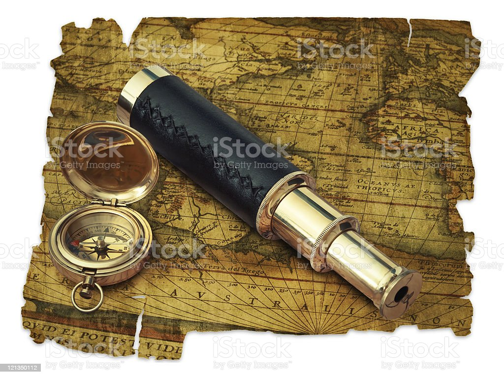Vintage travel objects royalty-free stock photo