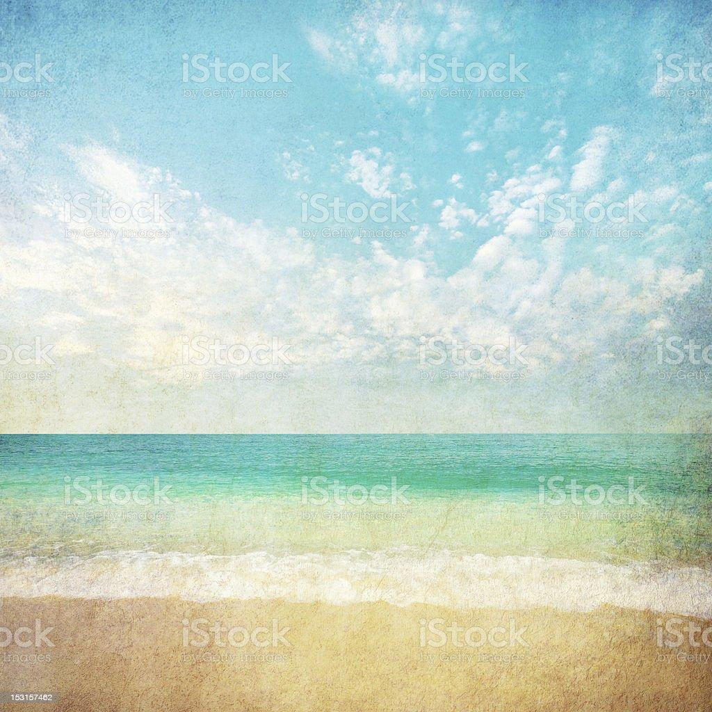 vintage tropical sea stock photo